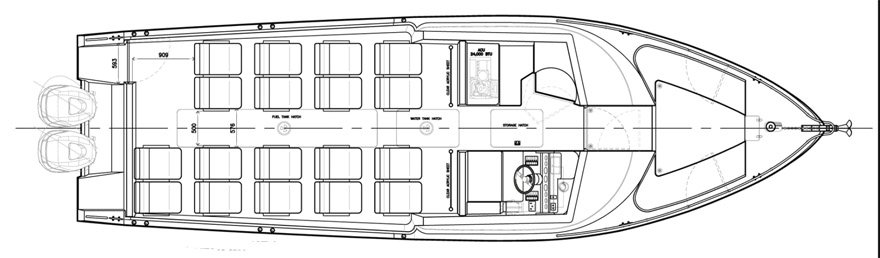 Bus Style Seating Layout