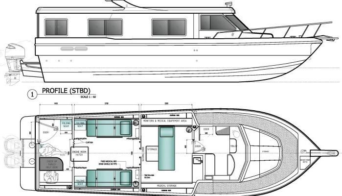 barco ambulância Ambulance 40