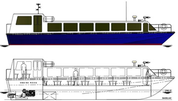 Laguna 60 Concept - Passenger Boat for reivers and lagoons