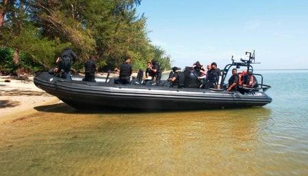 Rigid-hulled Inflatable Boat RIB 9.5 Anti Piracy