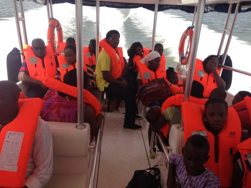 Metropolitan Waterways in Lagos servicing passengers in Nigeria on board the Touring 36
