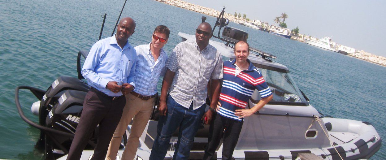 Kenya navy inspects its first ASIS rigid inflatable boat