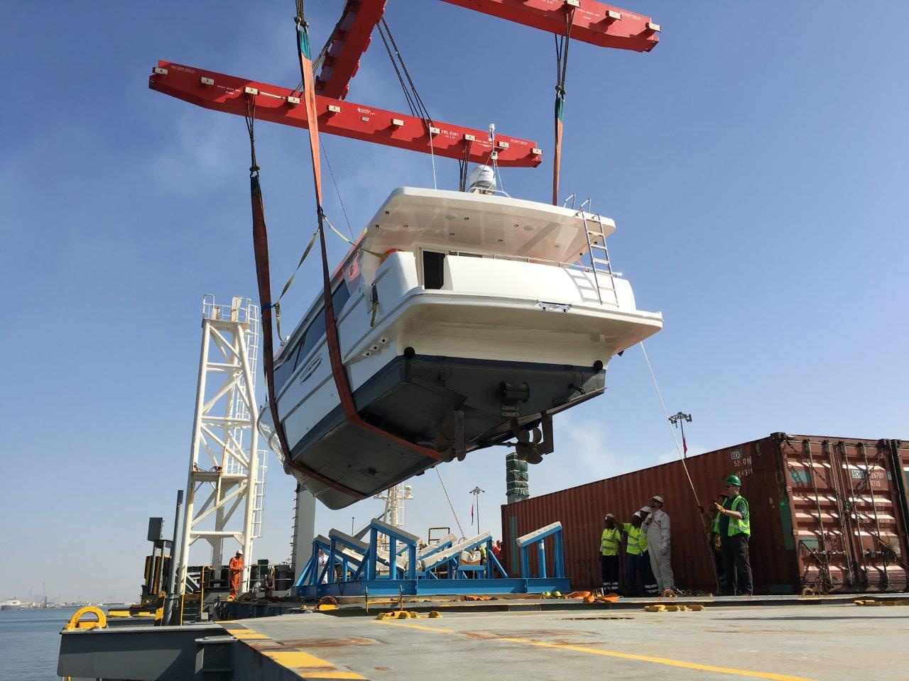 The complex task of shipping large boats like the Waveshuttle 56
