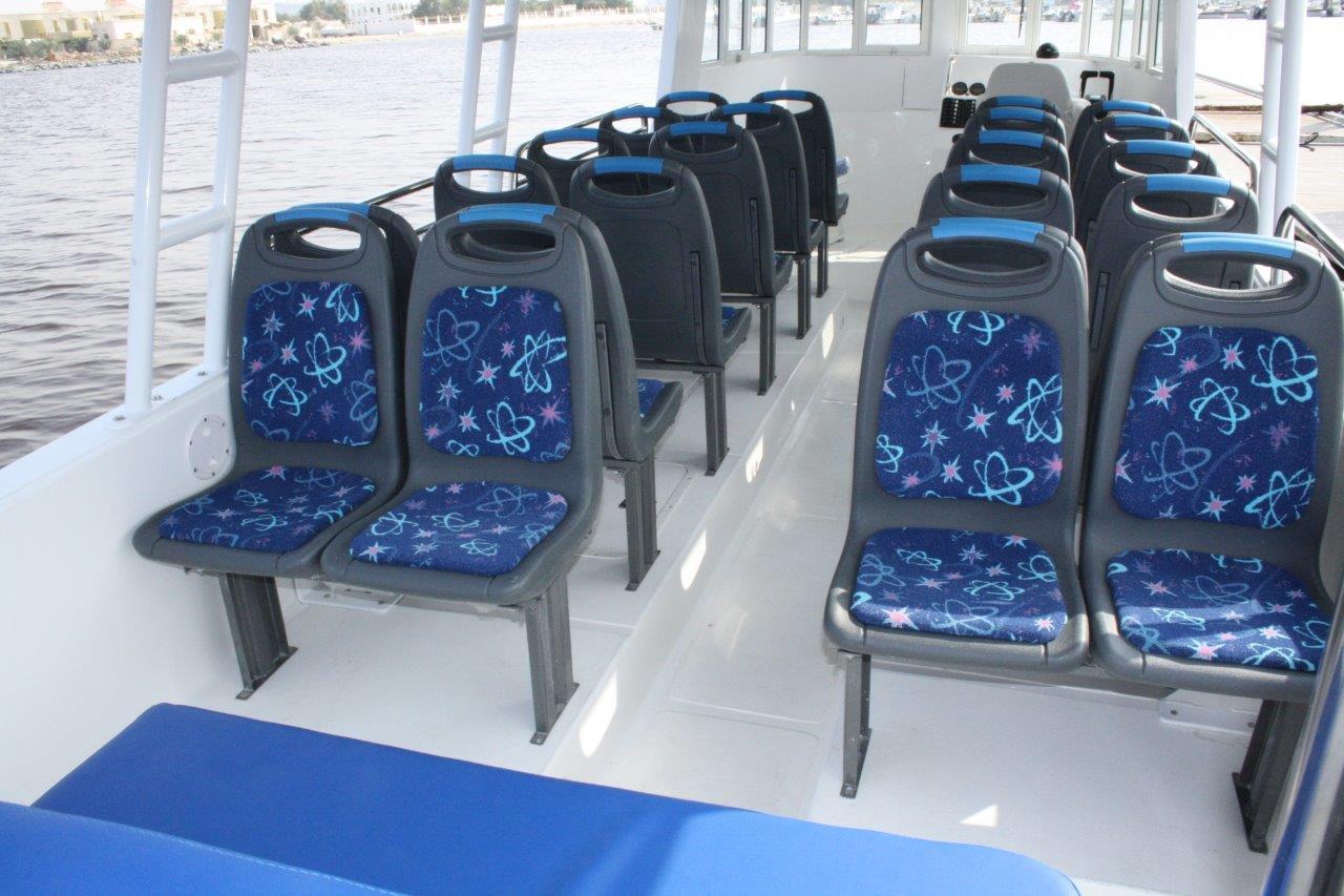 Configuration des sièges du taxi aquatique JAJI 31