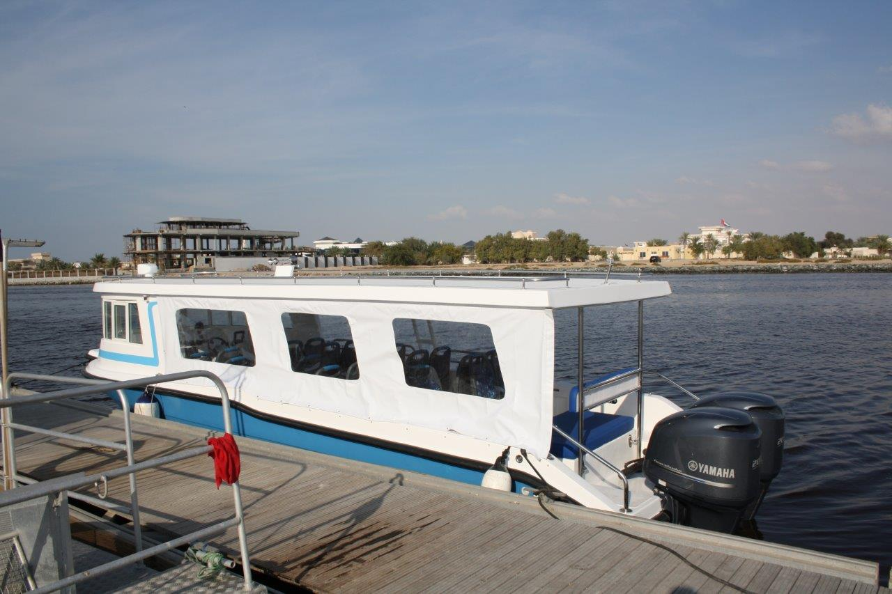 Taxi maritime à quai